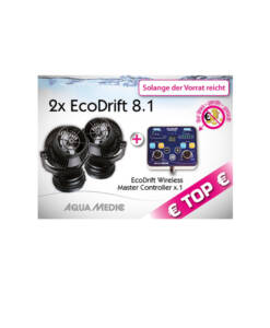 2x EcoDrift 8.1 + EcoDrift Controller von Aqua Medic in Spar-Set • Pumpen